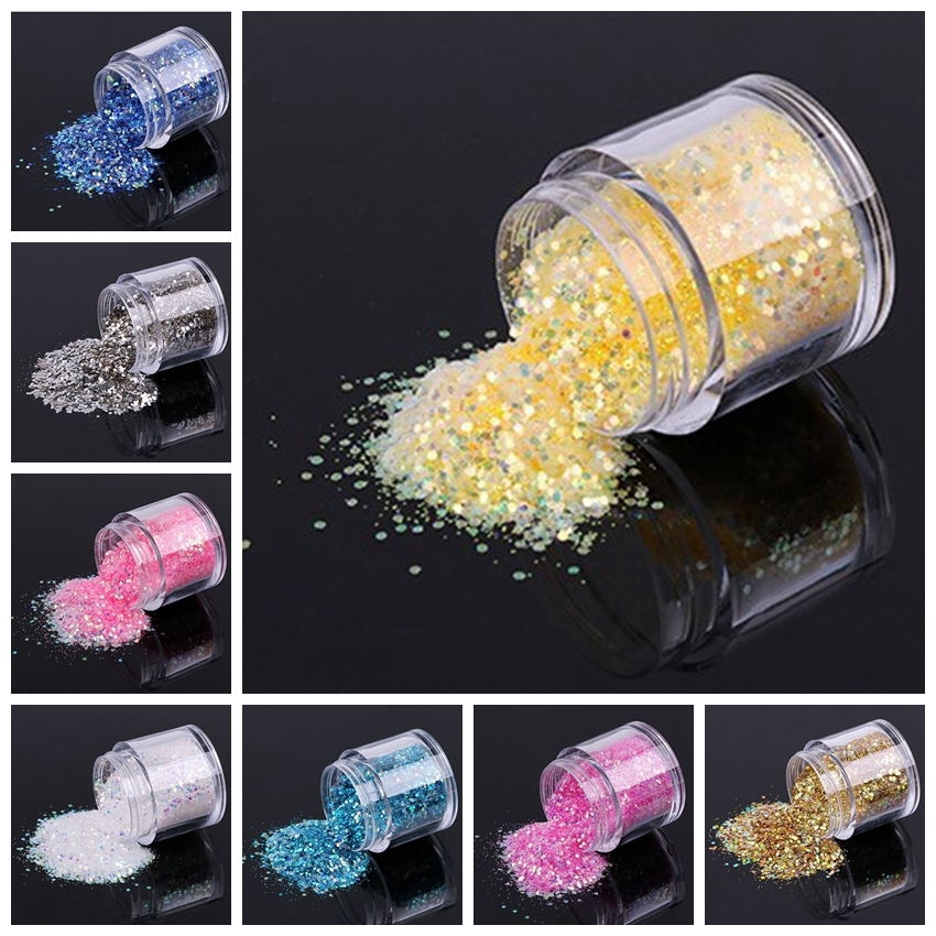 1 Box Holographic Nail Sequins 10g/Box Laser Sequin Sparkle Mix Flakies For Art Accessories FMA-02#