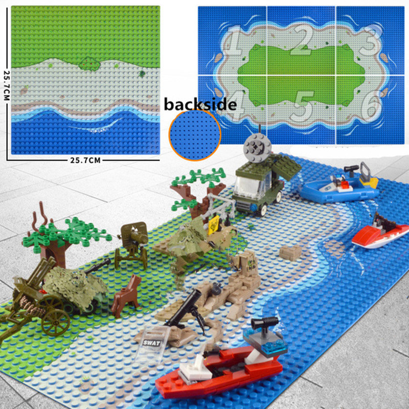 Image 2 - Best 32x32 Small Dot Seabeach Base Plate 100% Compatible with Legoings DIY Blocks Sea Island Baseplate for Building Blocks Toy-in Blocks from Toys & Hobbies