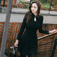 Women Sexy Black Dress For Spring Winter Plus Size For Pretty Girls Large Size Silm Dresses