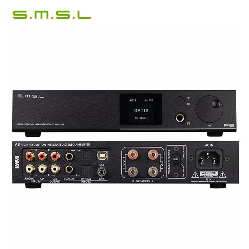 SMSL A8 XMOS Lösung und ICEpower 125Wx2 Modul und HIFI Audio Digital Power Verstärker DAC