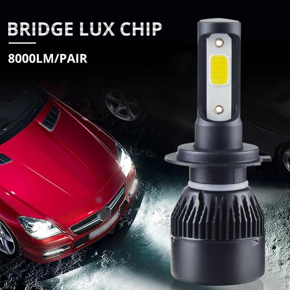1 pcs LED H7 LED Car Headlight Bulb 8000LM LED H4 H7 H11 9005 9006 9012 4300k 6500k COB Hight Low beam MINI 12V 24V 72W 50000h