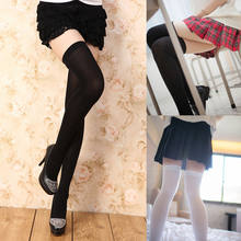 7 Color for Choose Fashion Women Clothing Girls Extra Long Boot Sockings Over Knee Socking Thigh High School Girl Stocking(China)