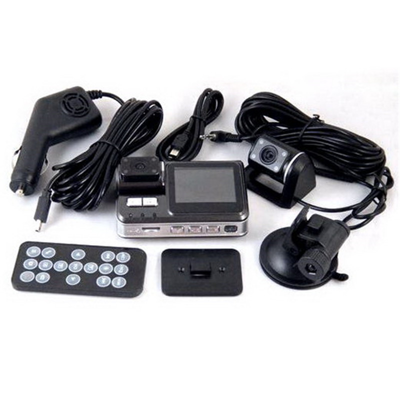 Enregistrement automatique Caméra Pour X6 HD 720 P Double Lentille Voiture Enregistreur Caméscope Nuit Vision Véhicule Parking Registre DVR Arrière vue