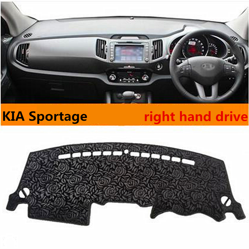 Hot selling right hand drive graceful style car dashboard mat for KIA Sportage special light cover for KIA