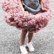 Baby Girl Tutu skirt fluffy gauze pettiskirt tulle Ballet dance skirts for girls cute perform costume Childrens clothes size3T