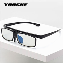YOOSKE флип-ап очки для чтения для мужчин и женщин анти синий светильник очки компьютерные игровые очки макияж дизайн высокое качество