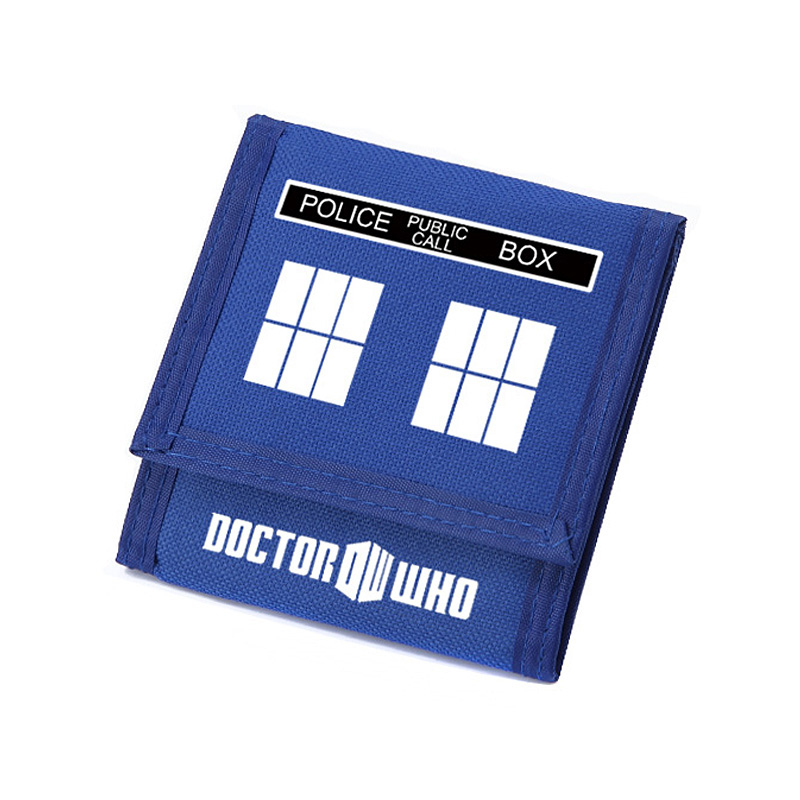 Doctor Who Wallet Oxford Carteira Children Gifts Blue Short Purse with Zip Pocket Card Holder Wallets old antique bronze doctor who theme quartz pendant pocket watch with chain necklace free shipping