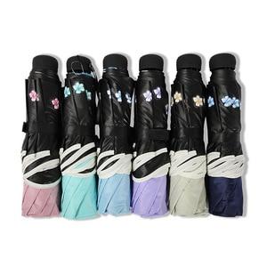 Image 5 - Brand Flower Umbrella For Women Folding Fashion Girl Parasol Sun Portable Strongly Rain Female Sun UV clear Umbrellas Light