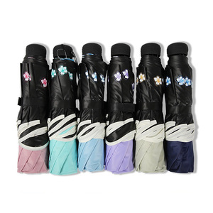 Image 5 - Marke Blume Regenschirm Für Frauen Klapp Mode Mädchen Sonnenschirm Tragbare Dringend Regen Weibliche Sonne UV klar Regenschirme Licht