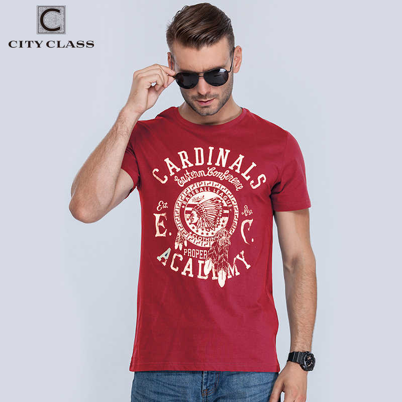 City Class 2018 Hot Summer Men's O-Neck TShirt  T Shirt Men Fitness 100% Cotton Red Base Tops Tees For Male Color t-shirt 1962R