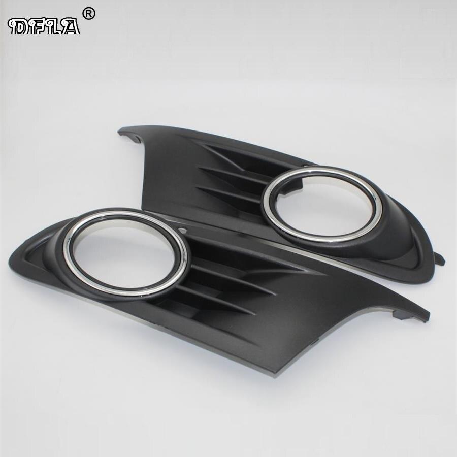 2 pcs Pour VW Golf 6 MK6 2009 2010 2011 2012 2013 Golf Cabriolet 2012-2016 Voiture-Styling Brouillard Lumière Brouillard Lampe Vent Grille Couverture