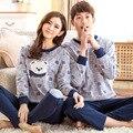 Новый с длинными рукавами мультфильм Медведь стиль пара пижамы установить и осень зима весна мультфильм любители главная пижамы