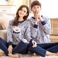 Nuevo estilo Oso de dibujos animados de manga larga pijamas pareja set y otoño invierno primavera amantes de la historieta ropa de dormir en casa