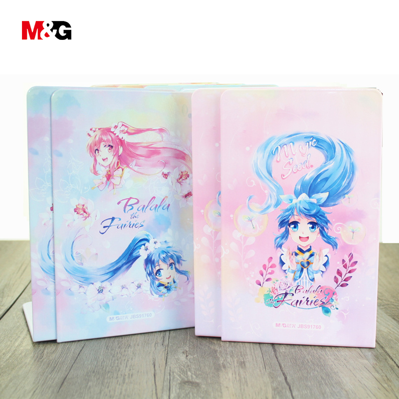 M&G New wholsale kawaii metal bookends for school supplies cute comic pattern book holder desk support quality office stationery цена