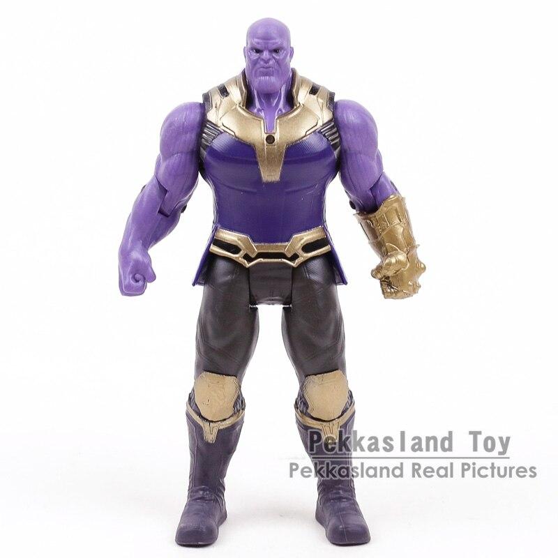 Marvel Avengers 3 infinito guerra articulaciones móviles Thanos figuras de acción niños juguetes regalos para niño 17 cm
