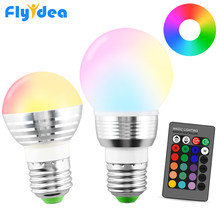 110V 220V holiday Dimmable Stage Light LED Night Light Lampl E27 16 Color Magic 24key IR Remote Contro(China)