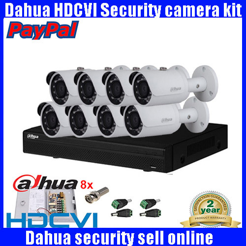 imágenes para HCVR7108H-S2 8CH H.264 2MP DAHUA HDCVI DVR kit Sistema de Seguridad + 8 unids DAHUA 2MP Red Bullet IR Cámara de 2MP IP A Prueba de agua cámara