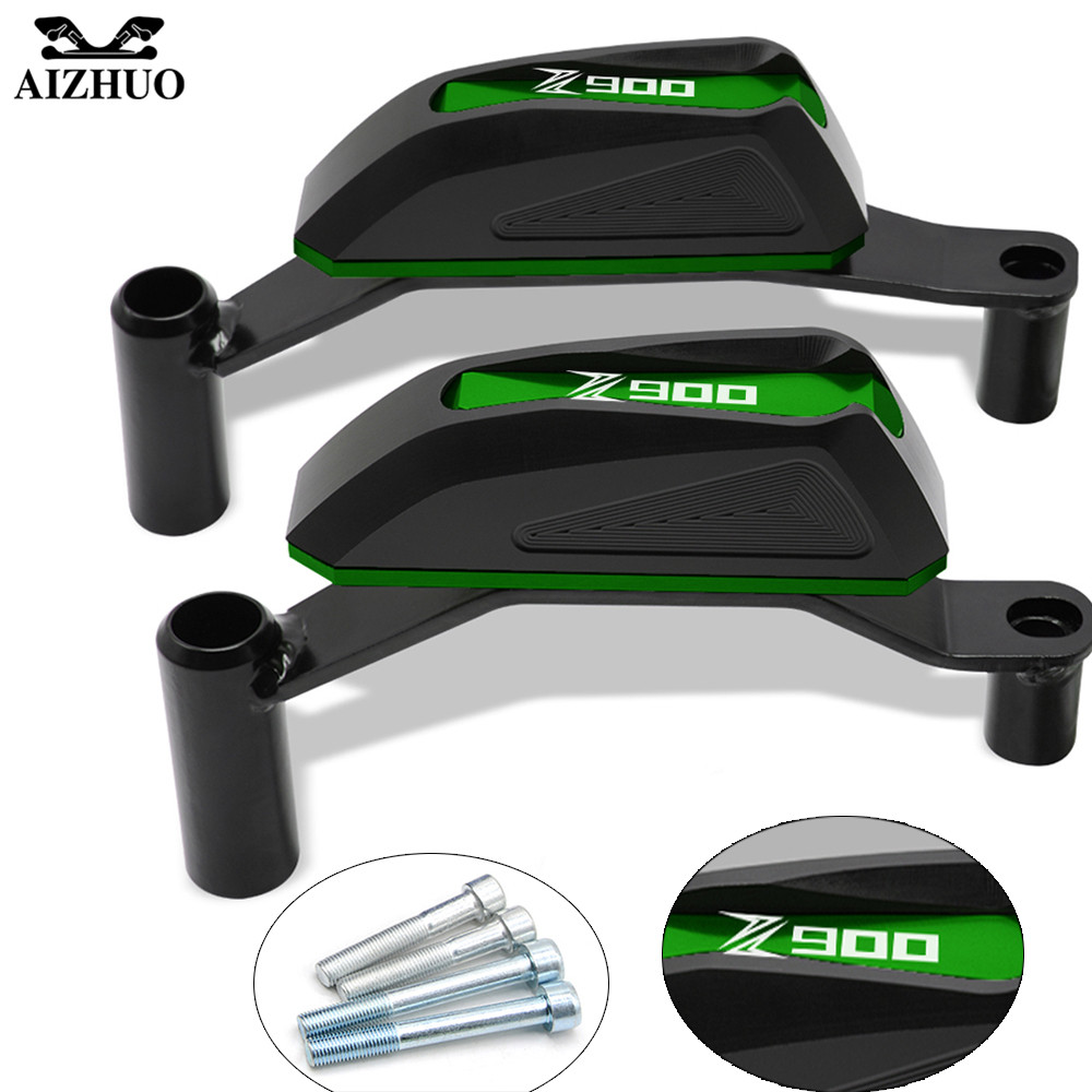 For KAWASAKI Z900 Z 900 2016 2017 2018 Z900 LOGO Motorcycle Frame Crash Pads Engine Case Sliders Body Engine Guard Protector billet motorcycle frame crash pads engine case sliders falling protector for bmw f800r 2015 2016 free shipping