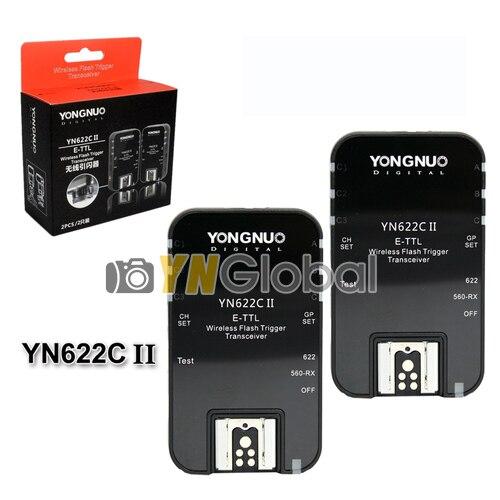 Yongnuo YN622C II Беспроводной Ttl-вспышки Transeiver Триггера Для камеры Canon 7DII 70D 60D 50D 40D 450D 500D 300D 10D 20D 30D 350D