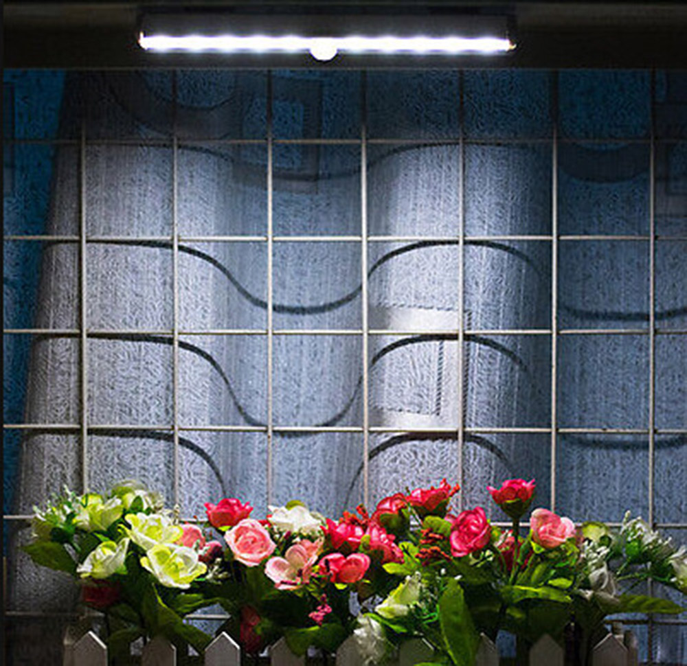 10 led ir infrarot intelligente tragbare bar licht motion detektor ...