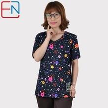 Hennar Women Scrub Top V Neck Print Hospital Medical Uniforms Short Sleeve 100% Cotton Clinical Womens Surgical Scrubs Top