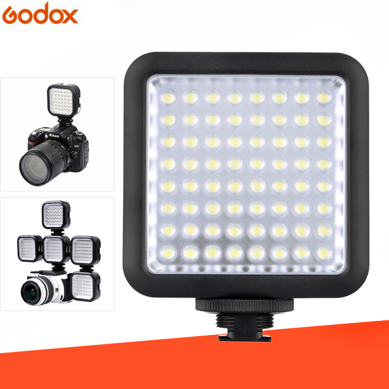 2Pcs LED64 LED Video LED Lamp for DSLR Camera Camcorder mini DVR as Fill Light for Wedding News Interview Macro photography2Pcs LED64 LED Video LED Lamp for DSLR Camera Camcorder mini DVR as Fill Light for Wedding News Interview Macro photography