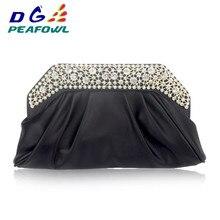 Новая мода сумка из полиуретана под крокодила для женщин серебро кожа кристалл сцепления конверт вечерние женские клатчи Кошелек Сумочка