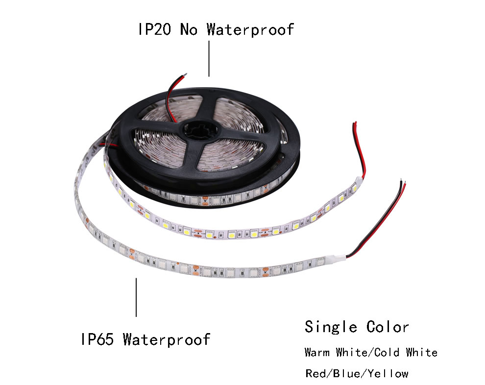Custom length 3528 single colour IP20 LED strip cold white 1m 2m 3m 4m 5m 6m 7m