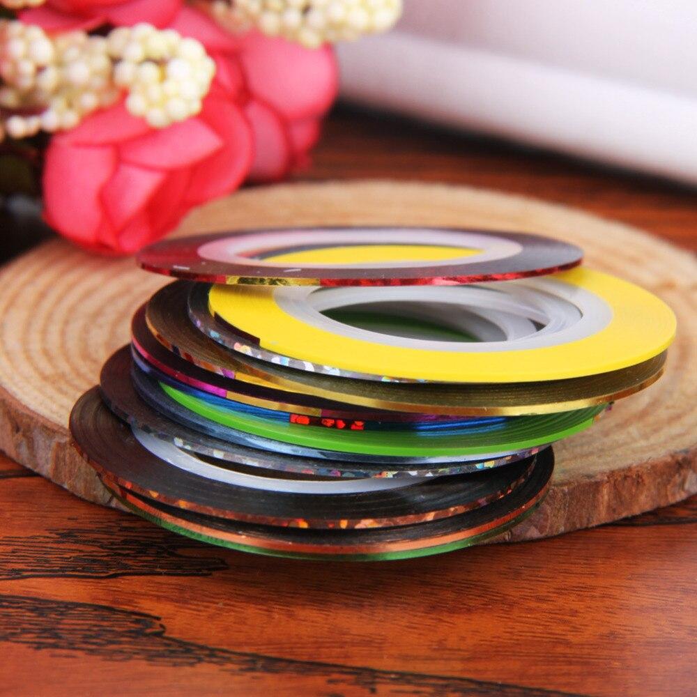 30 Stücke Bunte Rolls Tipps Band Linie Striping Wasser Aufkleber ...