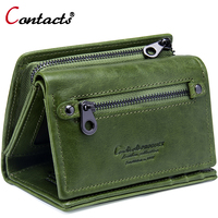 Contact S Brand Female Wallet Women Genuine Leather Purse Bank Card Holder Small Carteira Feminina Coin