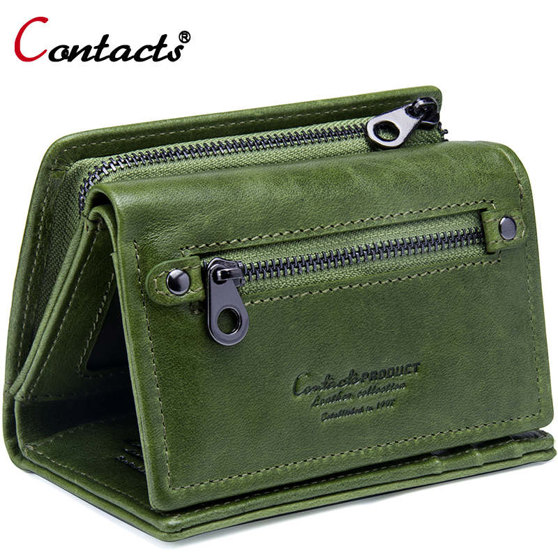 Contact's Brand Female Wallet Women Genuine Leather Purse Bank Card Holder Small Carteira Feminina Coin Purse Money Bag Clutch