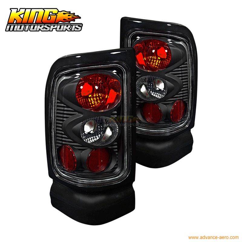 For 1994-2001 Dodge Ram Altezza Tail Light Taillights Lamps Black Clear USA Domestic Free Shipping