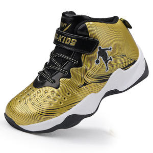 27107b1c1ad 2018 Thick Sole Non-slip Rubber Brand Kids Sneakers Gold Boys Basketball  Shoes Outdoor Children Sport Shoes Basket Trainer Shoes