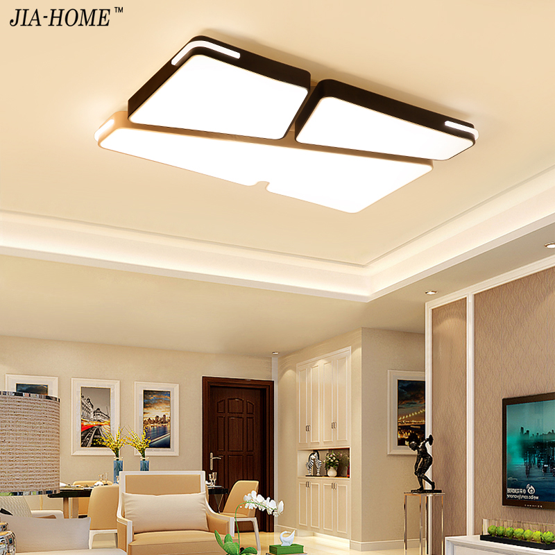 Modern LED Ceiling Lamp Fixture For Living Room Touch Remote Control Dimming For Dining Room Bedroom Lights fixture iron body