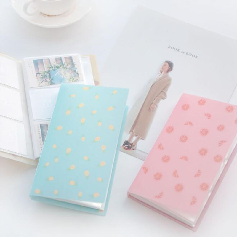 1pc 96 Slots ID Holders Cute Cartoon Card Book Star Large Capacity Business Card Clip Ticket Collection Book Card Stocks