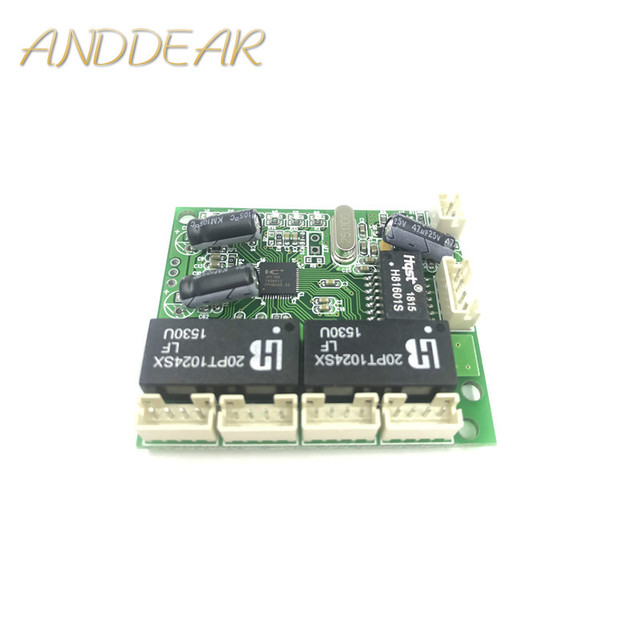 Mini extra kleine 3/4/5 port 10/100 Mbps engineering schalter modul netzwerk access control kamera exquisite kompakten PCBA bord OEM