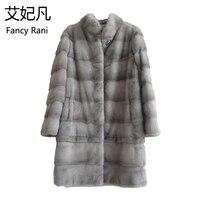 New Real Natural Mink Fur Coat Women Winter Long Mink Fur Coat Fur Jacket Detachable Sleeve Adjustable Clothes Length Customized