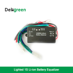 Com indicador led 1 s bateria equalizador única célula li-ion lifepo4 lto ncm polímero 18650 diy bms ativo balanceador de bateria