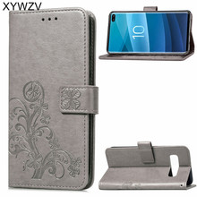 For Samsung Galaxy S10 Plus Case Luxury PU Cover Flip Wallet Back ^