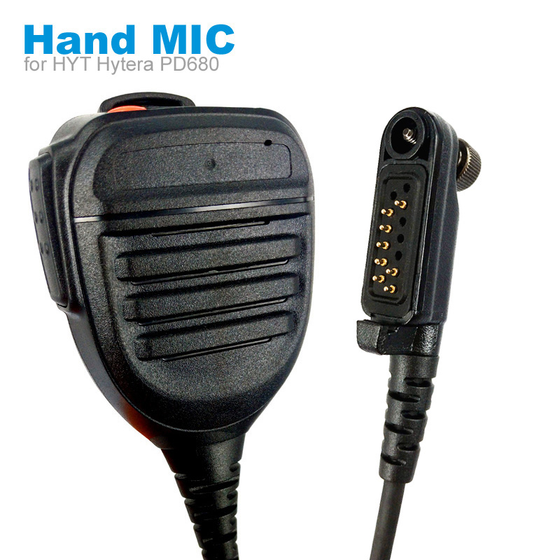 Speaker Mic Microphone For HYT Hytera PD600 PD602 PD605 PD662 PD665 PD680 PD682 PD685 X1p X1e Walkie Talkie Two Way Radio