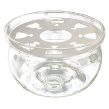 Hot Sale Heat-Resisting Teapot Warmer Base Clear Glass Round Shape Insulation Tealight