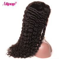 Lace Frontal Human Hair Wigs Alipop Deep Wave Lace Wig Remy Hair Lace Front Wig With