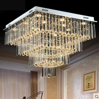 Crystal lamp chandelier living room lighting atmosphere LED bedroom lamp creative personality lobby restaurant lighting modern