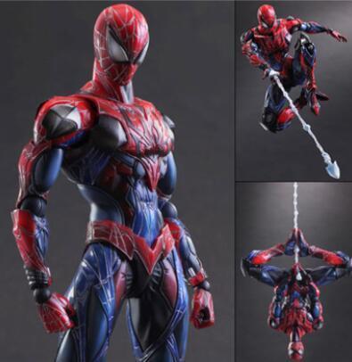 Big Size 25 CM Spiderman Spider-Man PVC Coleção Figuras de Ação brinquedos Com caixa de varejo Frete grátis