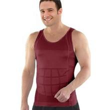 Hot Waist Trimmer Underwear Body Shape Shirt Compression Men's Body Slimming Shirt Top Tee Mens Slimming Body Shaper Vest Shirt