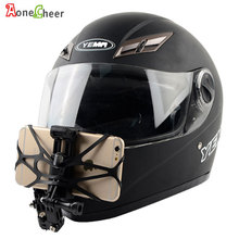 Supporto per telefono casco per moto supporti per mento supporto adesivo curvo supporto per ciclismo rotante a 360 gradi per iPhone x 7 huawei xiaomi