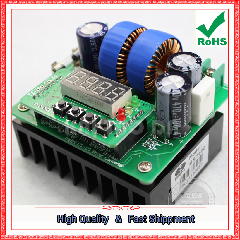 Free Ship 1pcs CNC digital DC DC step up 420W constant voltage constant current 400w boost converter Booster module 0.41kg