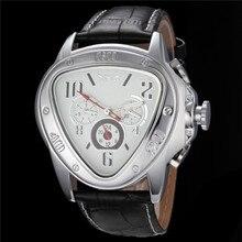 2016 Relojes de Los Hombres mecánicos Automáticos Del Ejército Triángulo Calendario 24 horas Dial Pu Sport Relogio masculino