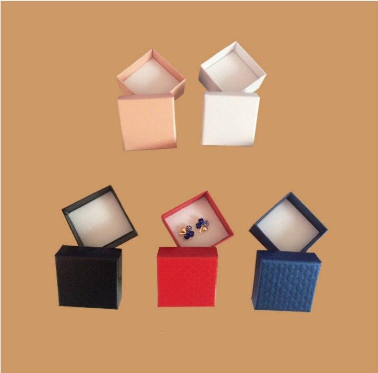 Мода красочные 1 шт. Новый 5*5 см Jewery Организатор Box Кольца хранения милый поле Малый Подарочная коробка для кольца серьги 5 цветов