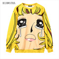 Hiawatha Harajuku Expression Printed Hoodies Autumn Style Women's Loose Hoody Fashion O-neck Sweatshirts Casual Pullovers WY1083